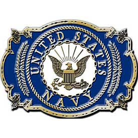 U.S. Navy Belt Buckle 3 1/8