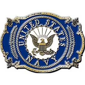 [U.S. Navy Belt Buckle 3 1/8