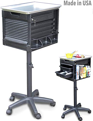 2450 LF COLOR CHEMICAL UTILITY CART SALON SPA ALUMINUM TOP LOCKABLE Made in USA by Dina Meri