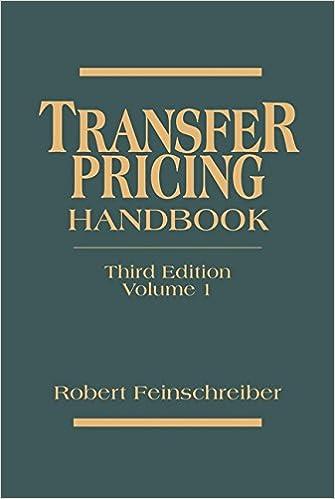 Transfer Pricing Handbook (Volumes 1 and 2)