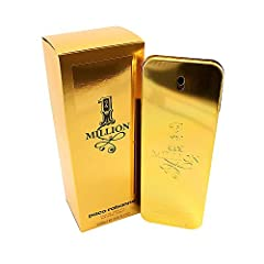 1 million for men eau de toilette spray 6.8 oz/200 ml by paco rabanne. This scent possesses a blend of sparkling grapefruit, red orange, mint, rose, cinnamon, spices, blond leather, blond wood, patchouli and amber.