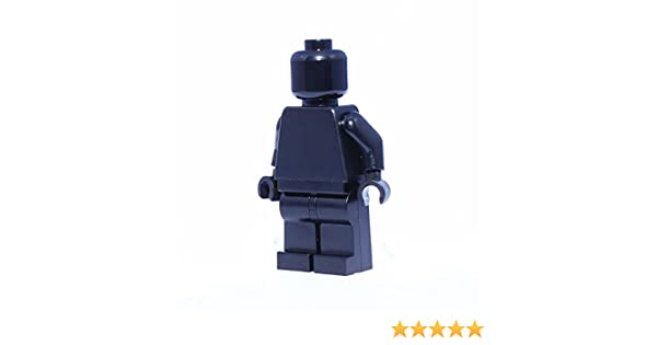 NEW LEGO BLACK MINIFIGURE HEADS plain black monochrome star wars minifig 10