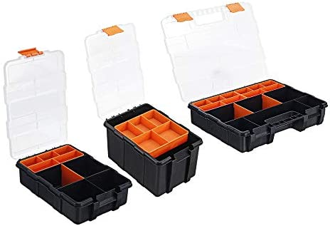 un known Portable Parts Box Screw Storage Box Metal Parts Hardware Tool Screwdriver Auto Repair Plastic Tool Box Accessory Removable Replacement (Size : 3#)