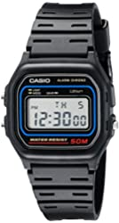 Casio Mens W59-1V Classic Black Digital Watch