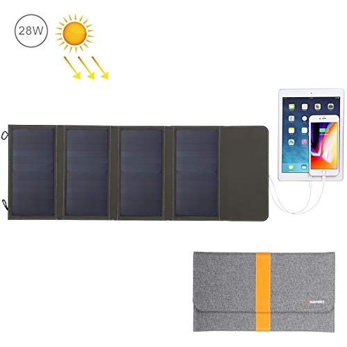 Cargador solar de panel plegable 28 W con dos puertos USB ...