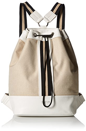 Kenneth Cole Reaction True Stripe Backpack, Natural/Chalk (Natural Reaction Womens Cole Kenneth)