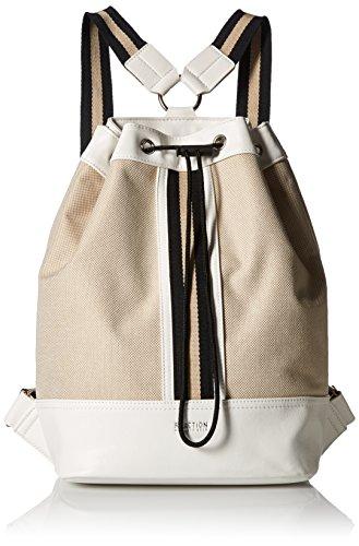 Kenneth Cole Reaction True Stripe Backpack, Natural/Chalk (Reaction Cole Kenneth Womens Natural)