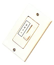 Royal Pacific WC-4 Ceiling Fan Wall Control, Single Slide, Three Fan Speed Controls, Designed For Multiple Fan Use