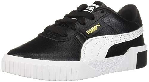 PUMA Unisex Cali Sneaker, Black- Team Gold, 1 M US Little -