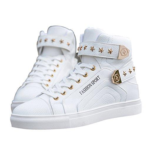 Fashion Top Hop High Street Leather White Hip Skateboard Sun Men's Florence Sneakers Shoes OtqFAI