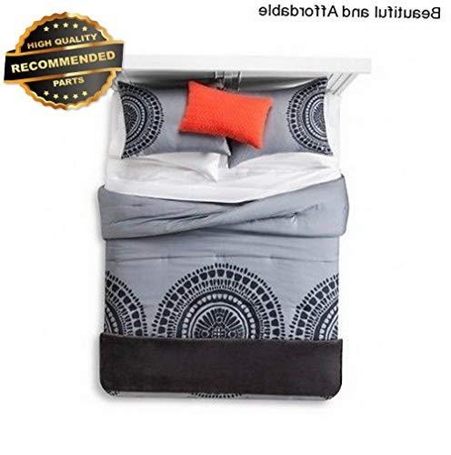 Gatton Premium New 4 Piece King Size Comforter Set Bedspread Bedding Grey Black Shams Pillow | Style Collection Comforter-311012826