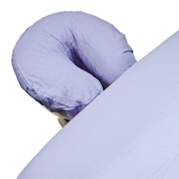 Body Linen Comfort Flannel Face Rest Covers For Massage Tables (Lilac, 1  Pack)