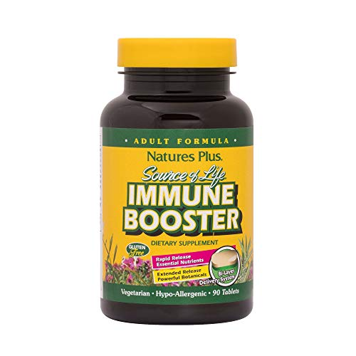Natures Plus Source of Life Immune Booster Adult Formula – 90 Vegetarian Tablets, Rapid & Extended Release – Natural Immunity Booster Supplement – Gluten Free – 30 Servings For Sale