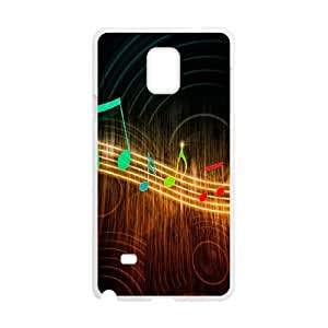 Musical Note Samsung Galaxy Note 4 Cell Phone Case White WK5281487