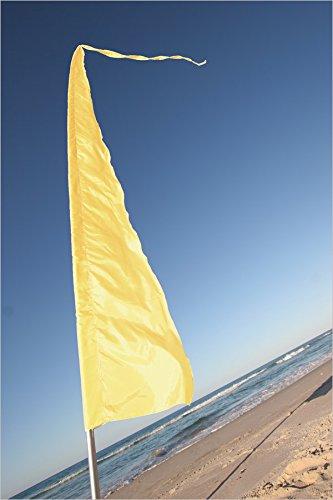 16' Garden (Festival Flags for Festivals, Advertising, Garden & Schools ~ 16' Feet Tall! Parachute Silk! Blue, Green, Pink, Purple & Yellow! (Yellow))