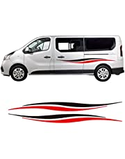 ASDFGZXC Auto Pegatinas de Calcomanías Body Stripe Lateral, para Ford Transit Renault Kang Mercedes Vito, Pegatinas de Rayas de Autocaravana de Estilo Universal