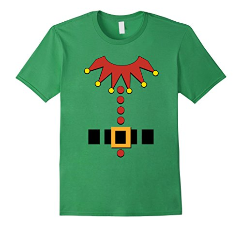 [Mens Christmas Elf Santa's Toy Maker Outfit Costume T-Shirt Large Grass] (Sleigh Ride Santa Costumes)