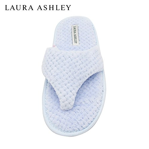 Laura Ashley Ladies Thong Spa Slippers with Memory Foam Insole Pool Party CzHjmiz