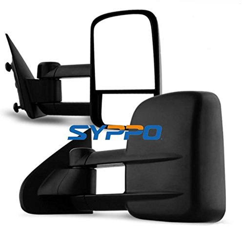 (Syppo For 2014-2018 Chevy Silverado/GMC Sierra 1500 & 2015-2018 Chevy Silverado/GMC Sierra 2500HD 3500HD MANUAL Telescoping Mirrors Set Side Mirrors)