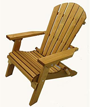 Kilmer Creek Folding Cedar Adirondack Chair W stained Finish, Amish Crafted
