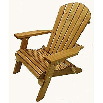 Amazon Com Kilmer Creek Folding Cedar Adirondack Chair W