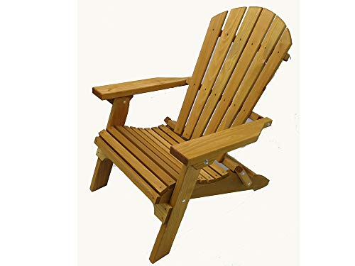 Kilmer Creek Folding Cedar Adirondack Chair W/stained Finish, Amish Crafted ()