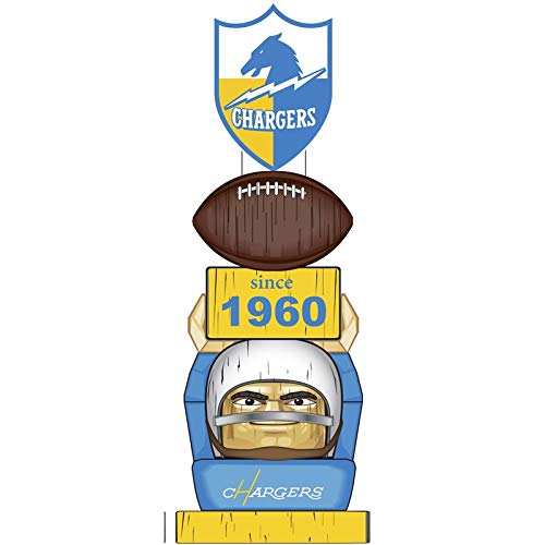 Uniform San Diego Chargers (Team Sports America Los Angeles Chargers Vintage NFL Tiki Totem Statue)