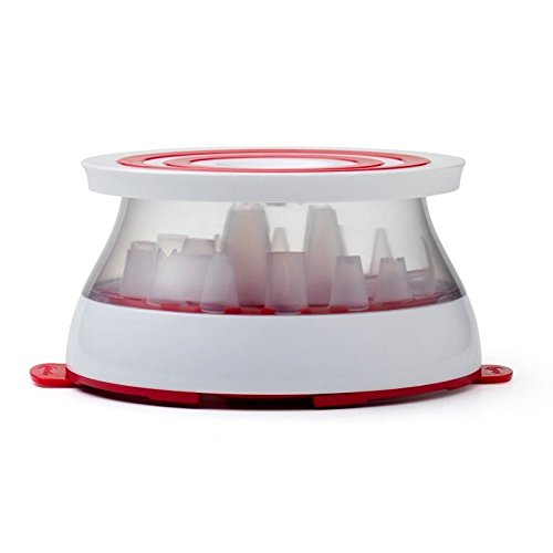 Chef'n Cakewalk Cake Decorating Kit & Cake Stand (Pack of 2)