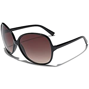 Oversized Round Frame Women's Butterfly Fashion Statement Sunglasses