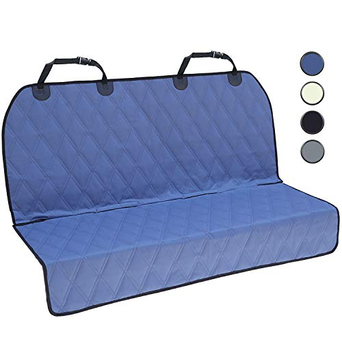 - Vivaglory Dog Back Seat Covers, No-Skirt Design, Quilted & Durable 600 Denier Oxford Pet Bench Protectors with Anti-Slip Backing for Most Cars, SUVs & MPVs, Moonlight Blue, 46