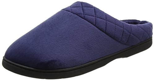 Zapatillas Back embr Azul Por Casa Velour W Mujer Closed peacoat De Dearfoams Estar Para n1Tpx