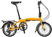 "SOLOROCK 16"" 8 Speed Aluminum Folding Bike - Dash Model - V B"