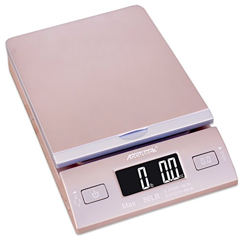 Accuteck DreamGold 86 Lbs Digital Postal Scale Shipping Scale Postage with USB&AC Adapter, Limited Edition