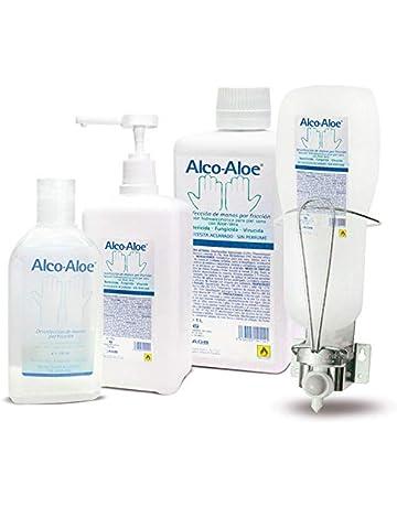 Alco-Aloe Gel Hidroalcoholico - Desinfectante de manos (500 ml con bomba dosificadora)