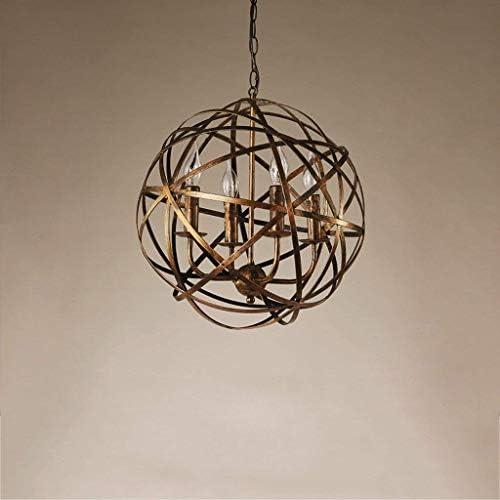American Retro Industry E14 Iron Creative Retro Personality Ball Ball Ceiling Kitchen Restaurant Indoor
