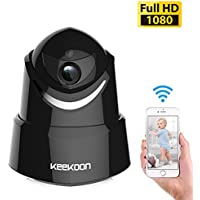 KEEKOON Wireless 1080P IP Camera, WiFi Home Security Surveillance Camera for Baby /Elder/ Pet/Nanny Monitor, Pan/Tilt, Two-Way Audio, Night Vision, Motion Detection (Black)