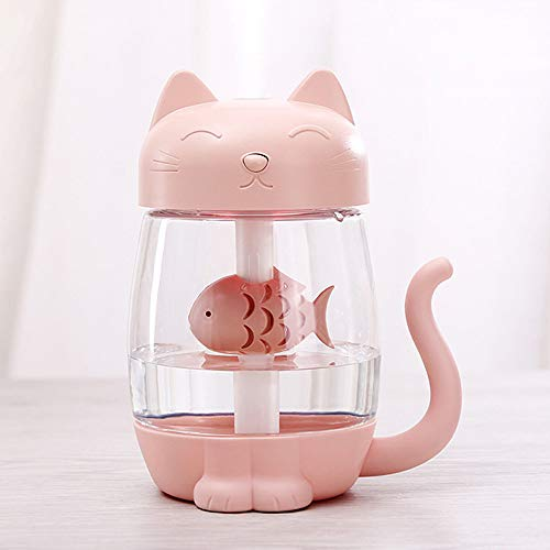 Air Humidifier,Beautyolove 3 In 1 Humidifier Cute Cat LED Humidifier Air Fan Diffuser Purifier Atomizer ()
