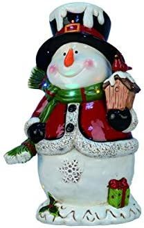 Transpac The 19 H Light Up Music Snowman Christmas D cor Standard
