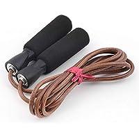 Florenceenid 3m Bold PU Leather Velocidad para Saltar con Cuerda Cuerda Ajustable para Gimnasio Perder Peso Ejercicio para Entrenamiento Deportivo Ejercicio físico