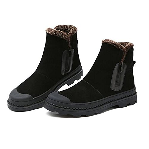 The winter snow boots high boots and boots Martin England cashmere warm shoes,40 black A by ZRLsly