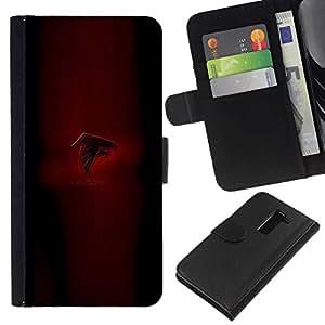 NEECELL GIFT forCITY // Billetera de cuero Caso Cubierta de protección Carcasa / Leather Wallet Case for LG G2 D800 // Falcons