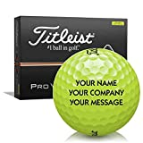 Titleist Pro V1 Yellow Personalized Golf Balls