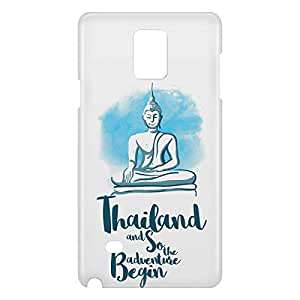 Loud Universe Samsung Galaxy Note 4 3D Wrap Around Thailand Print Cover - White