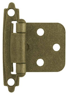 (Brainerd Mfg Co/Liberty Hdw H0103BL-AB-U Antique Brass Self-Closing Overlay Hinges, 2-Pk. - Quantity 5)