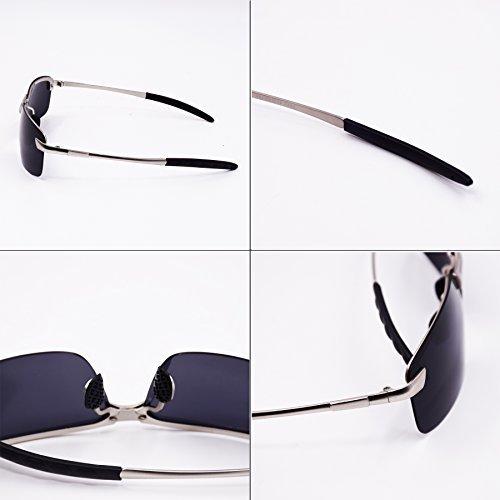 WITERY Full Mirrored Metal Frame Polarized Classic Aviator Sunglasses Flat Matte Lens