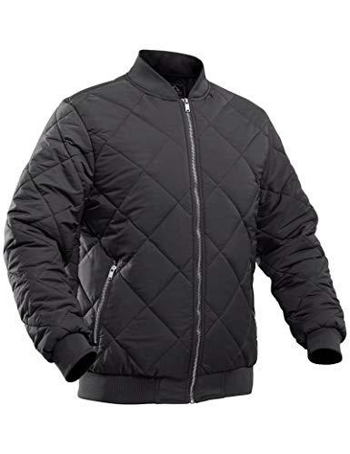MAGCOMSEN Men's Winter Bomber Jacket with Zipper Pockets Warm Fall Winter Varsity Coats Jacket