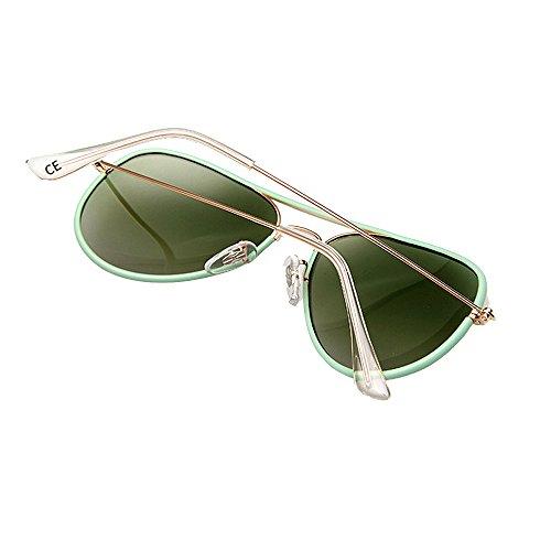 de Polarizadas UV400 para Gafas Protección VeBrellen VS003 Sol Frame Aviador Mujer Green wBAHtnq4x