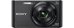 Sony DSCW830 Digital Compact Camera - Black (20.1MP, 8x Optical Zoom) 2.7 inch LCD by GadgetCenter
