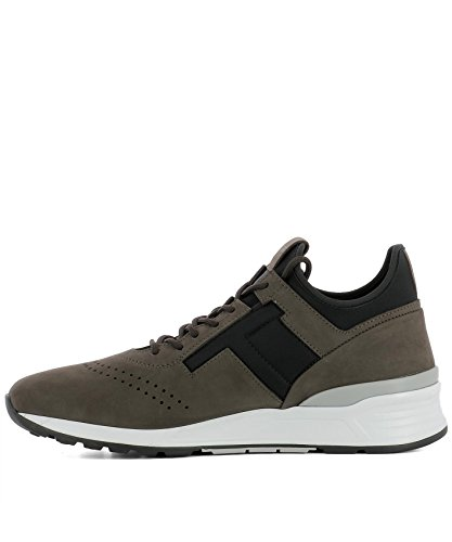 Tods Mens Xxm69a0w920imb0531 Sneakers In Pelle Scamosciata Marrone