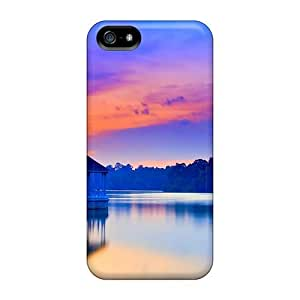 Zheng caseCynthaskey Scratch-free Phone Case For Iphone 5/5s- Retail Packaging - Harbor At Dusk